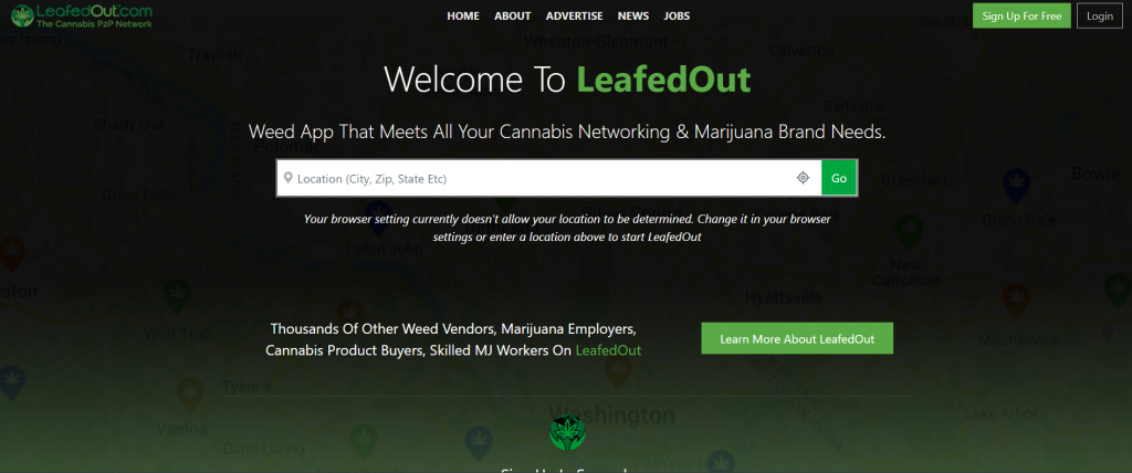 LeafedOut Cannabis Business Social Networks