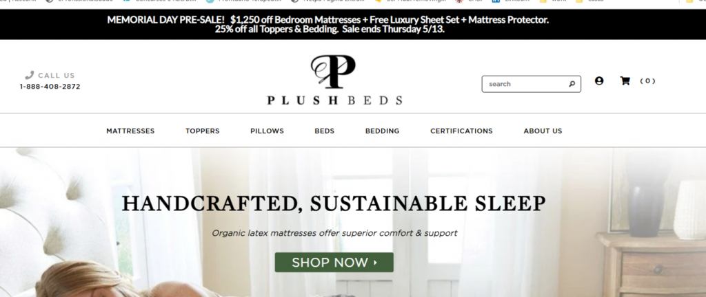 PlushBeds eco friendly products