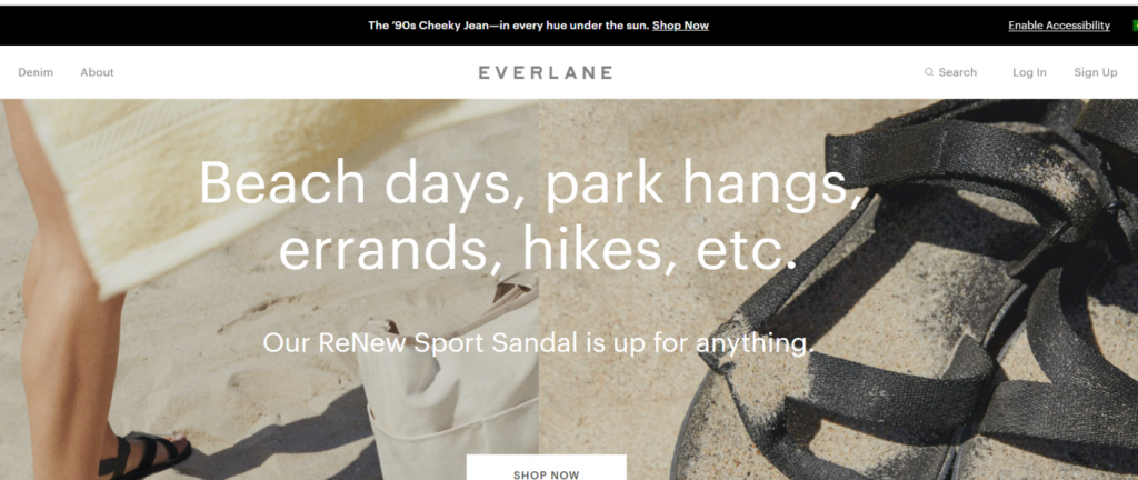Everlane eco friendly products
