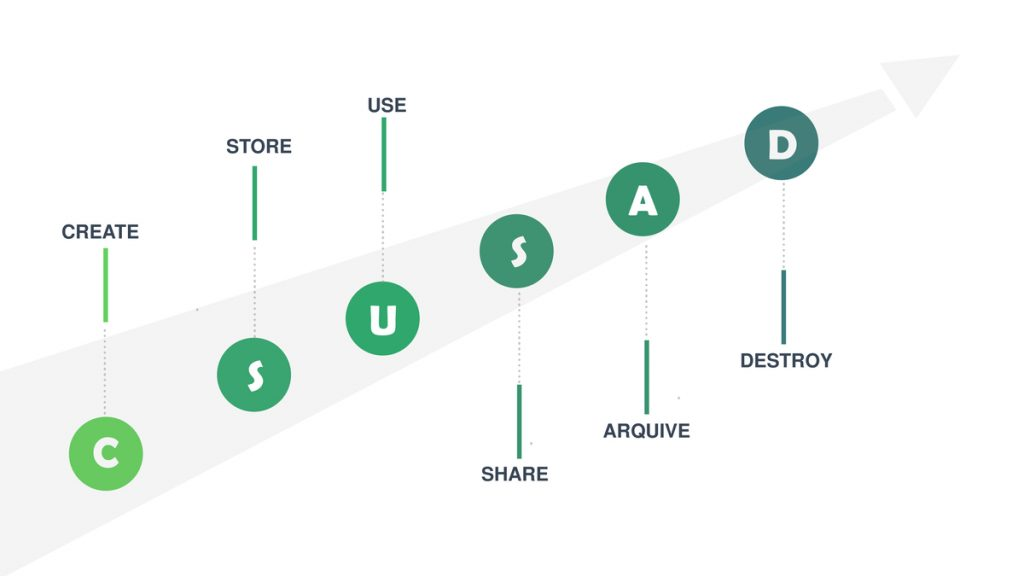 The six phases of the lifecycle of data