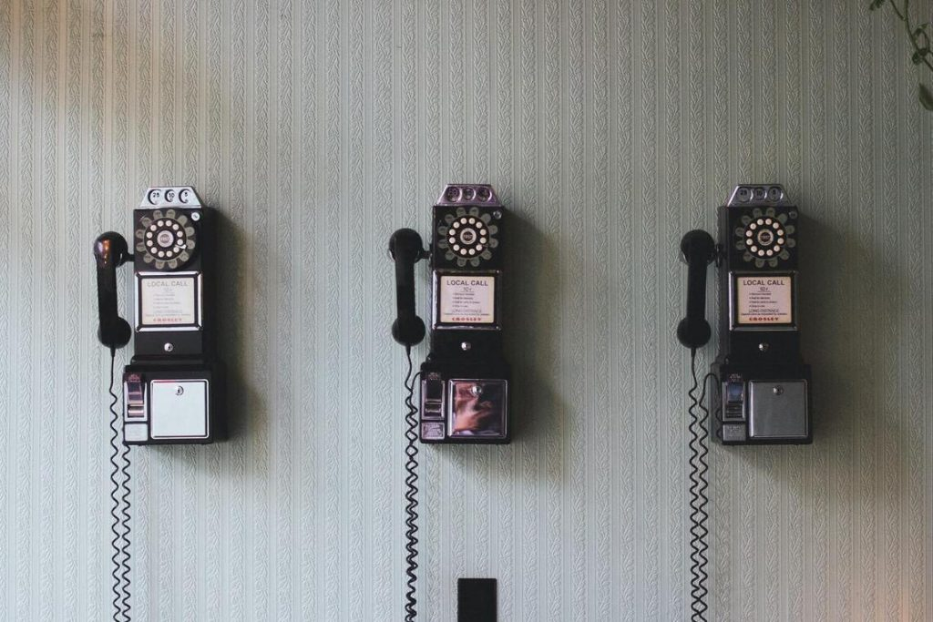 Three Vintage Telephone On the Wall represents the three types of intrapersonal communication: Self Concept, Perception, and Expectations.
